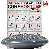 POWRX Cuscino per Equilibrio e propriocettività (Grigio) + PDF...