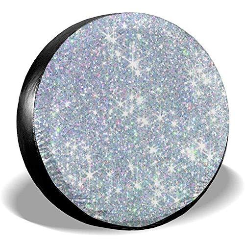 MOLLUDY 16 Zoll, glänzendes silbernes Background.jpg Ersatzreifen-Abdeckungs-Leder-wasserdichtes staubdichtes Universal