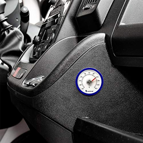 Lantelme Autothermometer Selbstklebend Analog Auto Fahrzeug Pkw LKW Innen Thermometer Farbe Blau 7716