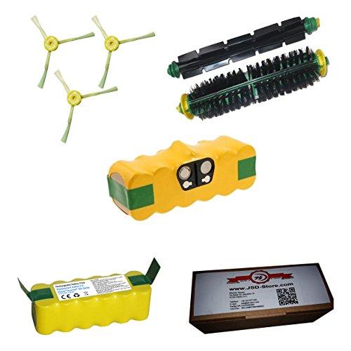 Batería para iRobot Roomba 3500mAh + kit cepillos–Para Toda la serie 500–Garantía JSD
