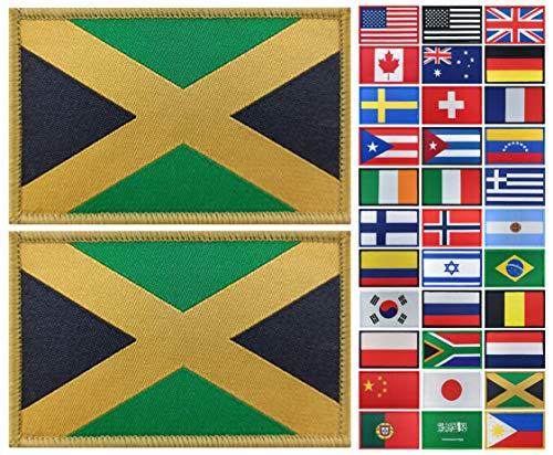 JBCD Aufnäher mit Jamaika-Flagge, taktischer Aufnäher, für Kleidung, Hut, Militär, 2 Stück