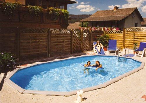 Steinbach Stahlwandpool Set Grande Oval 549 x 366 x 135 cm, Pool, Skimmer, Einlaufdüse, Erweiterungsset, Schläuche, 011520