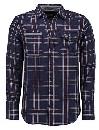 AMSTERDENIM Jacob Checkered Lumberjack shirt met denim details