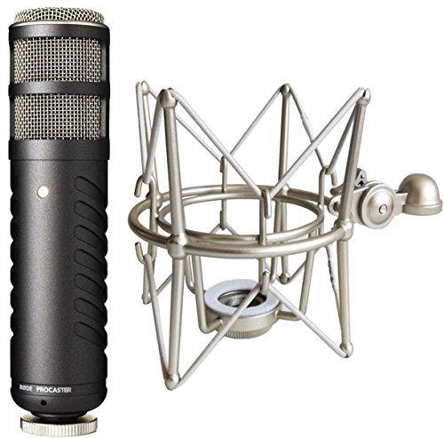 RODE Procaster Rundfunkmikrofon Dynamisches Mikrofon + keepdrum MS088 Mikrofon-Spinne