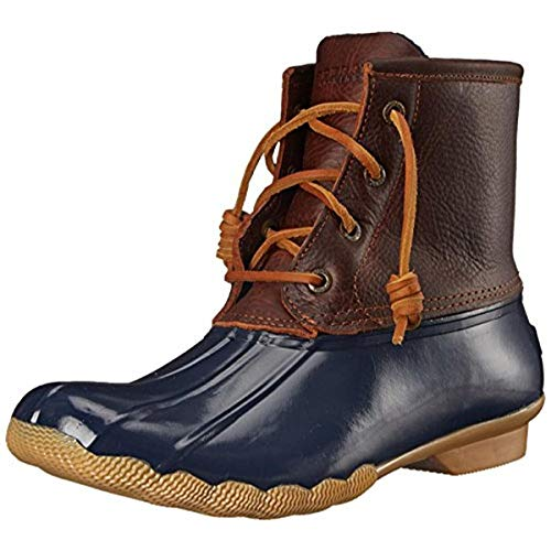 Sperry Womens Saltwater Boots, Tan/Navy, 8