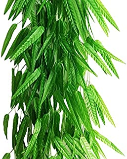 Artfen Fake Green Willow Rattan 71 Inch 10 Pack Artificial Green Bamboo Leaves Artificial Greenery Lvy Vine Leaves Artificial Flower Garland for Home Hotel Office Wedding Party Garden Decor