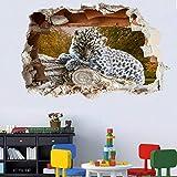 Pegatinas de pared Animal salvaje zoológico leopardo leopardo cachorro pegatina de pared arte de transferencia calcomanía mural cartel