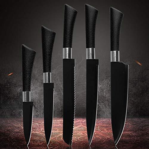 Cuchillo de Carnicero Cuchillos de cocina 6pcs Cuchillo de acero inoxidable conjunto Herradura...