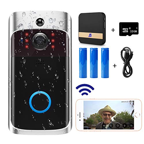 Video Doorbell Camera (Upgraded) with Ring Chime (All in One),Wi-Fi with PIR...