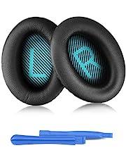 Hoofdtelefoon Vervangende Pads voor Bose, ELZO Professionele Oorkussens voor Bose Hoofdtelefoon QC2/QC15/QC25/QC35/QC35II/AE2/AE2i/AE2w/SoundTrure/SoundLink Compleet met 2 Install Stick, Bose QC/AE series (Zwart & Blauw)