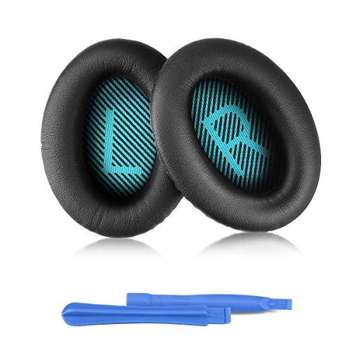 Image of ELZO Kopfhörer-Ersatzpolster für Bose, Professional-Ohrpolster für Bose-Kopfhörer QuietComfort Bose QC2/QC15/QC25/QC35/QC35II/AE2/AE2i/AE2w/SoundTrure/SoundLink Komplett mit 2 Installationssticks