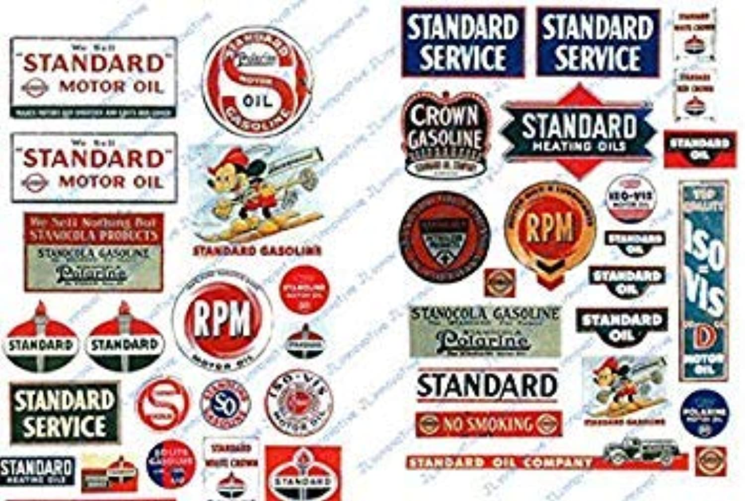 Oil Standard Signs Station Vintage Scale HO 1930s50s Gas pkg