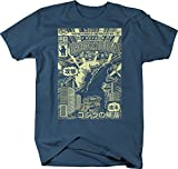 Return of Godzilla Comic Book Cover Asian Tokyo Vintage Monster Tshirt - XLarge Denim Blue