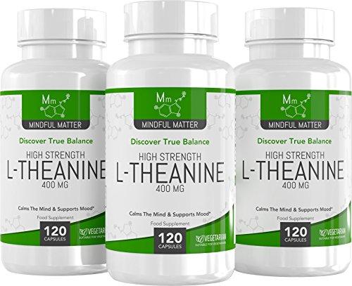 L-Theanin 400 mg Kapseln   Hochwirksam   FÜR KLARHEIT UND KONZENTRATION   Fördert Entspannung & Mentale Klarheit   120 Vegetarische Kapseln   Aus ISO-zertifizierten Betrieben in GB   4 Monate Vorrat
