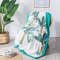 肌にやさしいキルト サマーエアキルト キルトの肌に優しい城の夏の薄い毛布の柔らかい通気性エアコン羽毛布団-森林_150×200cm