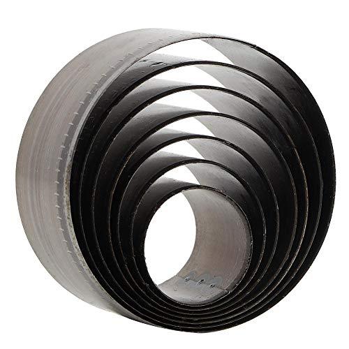 7pcs runde Locher Werkzeug Leder Bell Cutter Lederhandwerk DIY Tools, 25 mm, 30 mm, 35 mm, 40 mm, 45 mm, 50 mm, 55 mm
