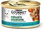 PURINA GOURMET Nature's Creation Lot de 12 sachets de Nourriture Humide pour Chat en gelée Naturelle au Thon 85 g