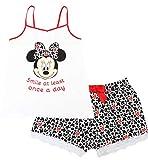 Disney Minnie Mouse Ladies Smile Once A Day Short Sleeve Pyjama Set Grey Medium