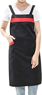 Sexy Dresses for Women,Women Casual Solid Cooking Chef Kitchen Restaurant Bib Apron Dress Pocket Apron