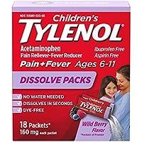 18-Count Children's Tylenol Dissolve Powder Packets (Wild Berry)