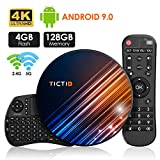 Android 9.0 4GB DDR3 + 128GB EMCC, TICTID Android TV Box R8 MAX con Wireless...