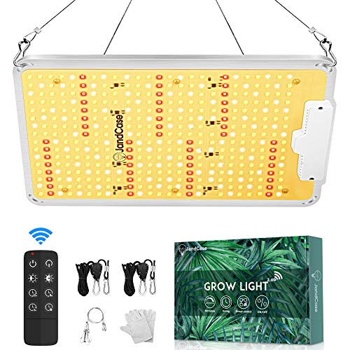 LED Grow Light, JandCase 1000 Watt Full Spectrum Plant Grow Lamp with 368 LEDs, 3x3 ft, Timing & Dimmable, High PPFD Grow Light for Indoor Plants, Hydroponic, Veg, Seedling, Remote Control