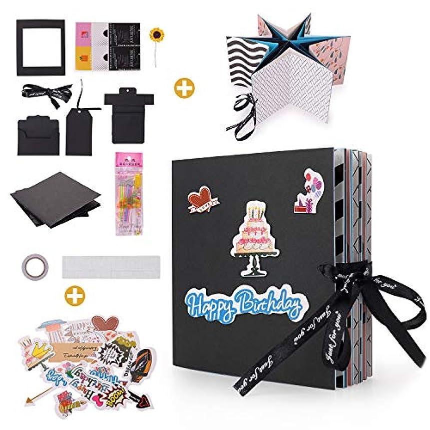 Creative DIY Handmade Photo Album Scrapbooking, Explosion Gift Box, Folding Album for Birthday, Valentines Day, Anniversary, Wedding, Thanksgiving Day Party Surprise Festival Gift (Folding Album)