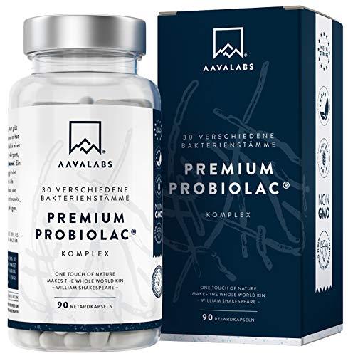 AAVALABS® Premium Kulturen Komplex - 120 Mrd KBE je Tagesdosis - 30 Bakterienstämme - mit Lactobacillus & Bifidobacterium - 90 magensaftresistente Kapseln - mit Zink, Unterstützung für Immunsystem