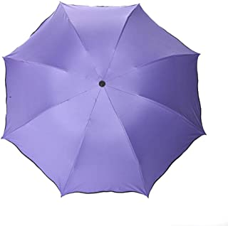 Automatic Folding Umbrella,Umbrella UV Protection, Easy to Carry One-Button Open Suitable for Both Men and Women ,with Ergonomic Handle