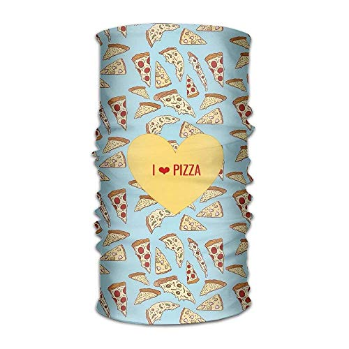 Babydo Multifunctional Headwear Pizza Fast Food Head Wrap Elastic Turban Sport Headband Outdoor Sweatband 9.8x19.7inches,25x50cm