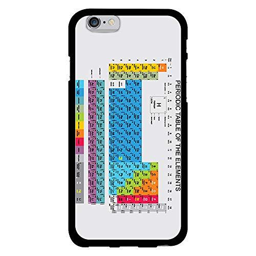 BJJ SHOP Funda Negra para [ iPhone 6 / iPhone 6s ], Carcasa de Silicona Flexible TPU, diseño : Tabla periodica. Quimica