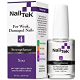Nail Tek Xtra 4, Nail Strengthener for Weak and Damaged Nails, Prevent Nails From Peeling, Cracked, and Brittle Nails, 0.5 oz, 1-Pack