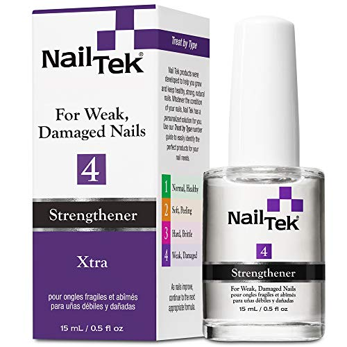 Nail Tek Xtra 4, Nail Strengthener for Weak and Damaged Nails, 0.5 oz, 1-Pack