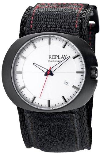 Replay Herren-Armbanduhr XL Analog Leder RX7203AH