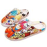 Zapatillas de Estar por Casa Hombre Invierno Zapatos Mujer Calido Cómodas Suave Flat Slipper Dragon Ball Kakarotto Super Saiyan Son Goku Anime Memory Foam Pantuflas Antideslizante,41/43 EU