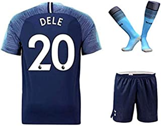 ZXAOYUAN DELE Alli #20 Kids/Youths Away Soccer Jersey & Short & Socks Kit Blue