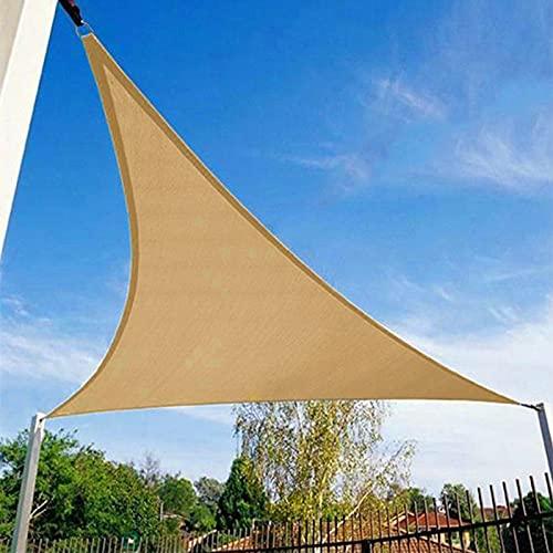 Patio Shack Toldo Vela de Sombra Triángulo Rectángulo 5x5x7,1 m, Protección Rayos UV y Poliéster Impermeable para Exterior, JardÍn, Terrazas Arena