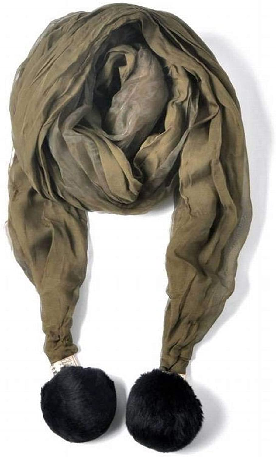 WJS European and American Streets Pure color Wool Men Warm Monochrome Medium Long Autumn and Winter Outdoor Multi-Functional Fgreyion Trend Joker Warm Shawl Scarf Gift