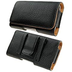 What you receive: Horizontal Heavy Duty Holster Pouch with Belt Clip made for Galaxy S10 PlusApple iPhone 11 iPhone 11 Pro Max iPhone XS Max iPhone XR iPhone 8 Plus iPhoine 7 Plus iPhone 6 Plus iPhone 6S Plus Quality and Design Guaranteed Magnetic Cl...