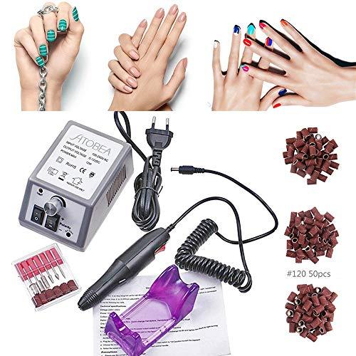 Pulidor Esmeril limas de uñas profesionales eléctricas Máquina lijadora Pedicura lijadora eléctrica...