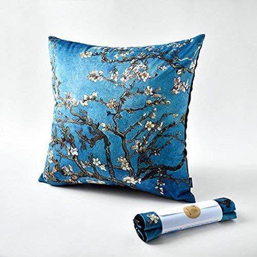Leyue Cuscino Van Gogh Tipo Cuscino Cuscino Cuscino Cuscino Ufficio Creativo Notte Divano Cuscino Cover Core originalità (Dimensioni: 55 * 55 cm) (Size : 55 * 55cm)