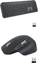 Logitech MX Master 3 Advanced Wireless Mouse - Graphite Bundle with Logitech MX Keys Advanced Wireless Illuminated Keyboar...