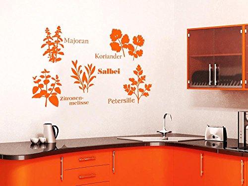 GRAZDesign muurtattoo keuken koper, keukendecoratie decoratieve folie kruiden 66x40cm 822 waterlilly.