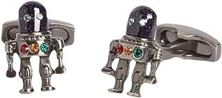 Simon Carter Mens Outer Space Robot Cufflinks - Dark Grey