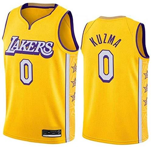 llp Baloncesto Jersey-Kyle Kuzma # 0 Los Angeles Lakers Classic Hot Pressing Gym Basketball T-Shirt (Size : X-Small)
