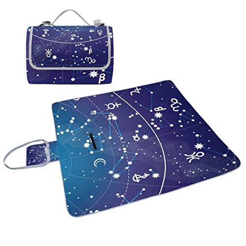 COOSUN Fragment, hohe, Atlas Picknick Decke, Praktisch, Schimmel-resistent und wasserdicht, für Picknicks, Strand, Wandern, Reisen, rving kurze