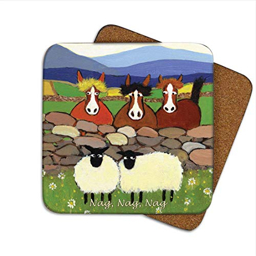 Nag Nag Nag Coaster by Thomas Joseph - Funny Sheep by Thomas Joseph