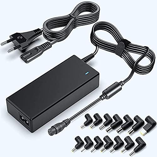 90W Portátil Cargador Universal Computadora Adaptador para HP DELL Toshiba IBM Lenovo Acer ASUS Samsung Sony,15V 16V 18.5V 19V 19.5V 20V 24V Cable de alimentación Adaptador de Corriente