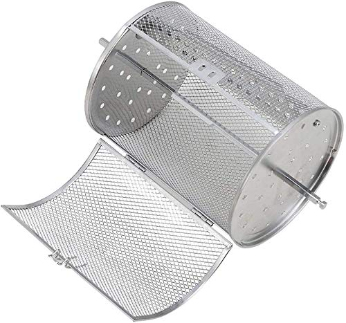 Accessori per friggitrice ad Aria Griglia per friggere Accessorio per Forno in Acciaio Inox Arrosto Cesto girarrosto Grill Cestello Rotante per Barbecue Strumento Bakeware