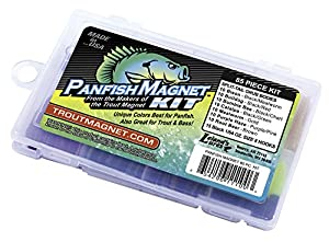 Trout Magnet Panfish Magnet Kit - 70 Split Tail Grub Bodies, 15 Black Size 8 Hooks